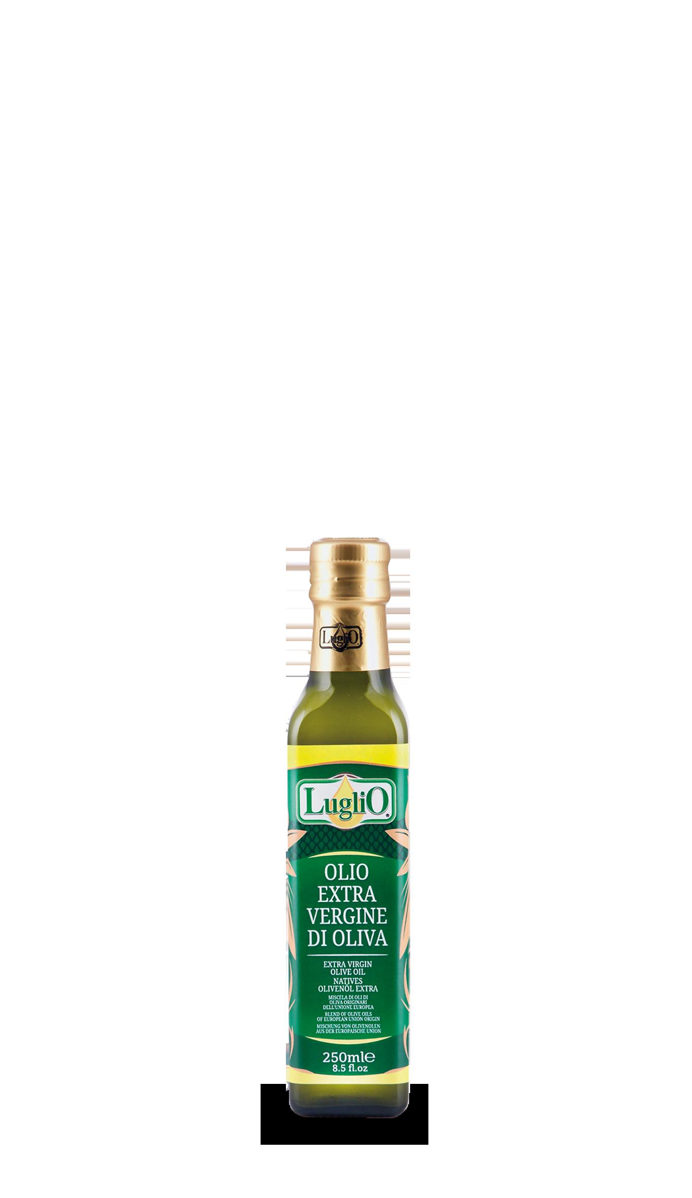 Olio luglio extra vergine comunitario 250ml in bottiglia di vetro