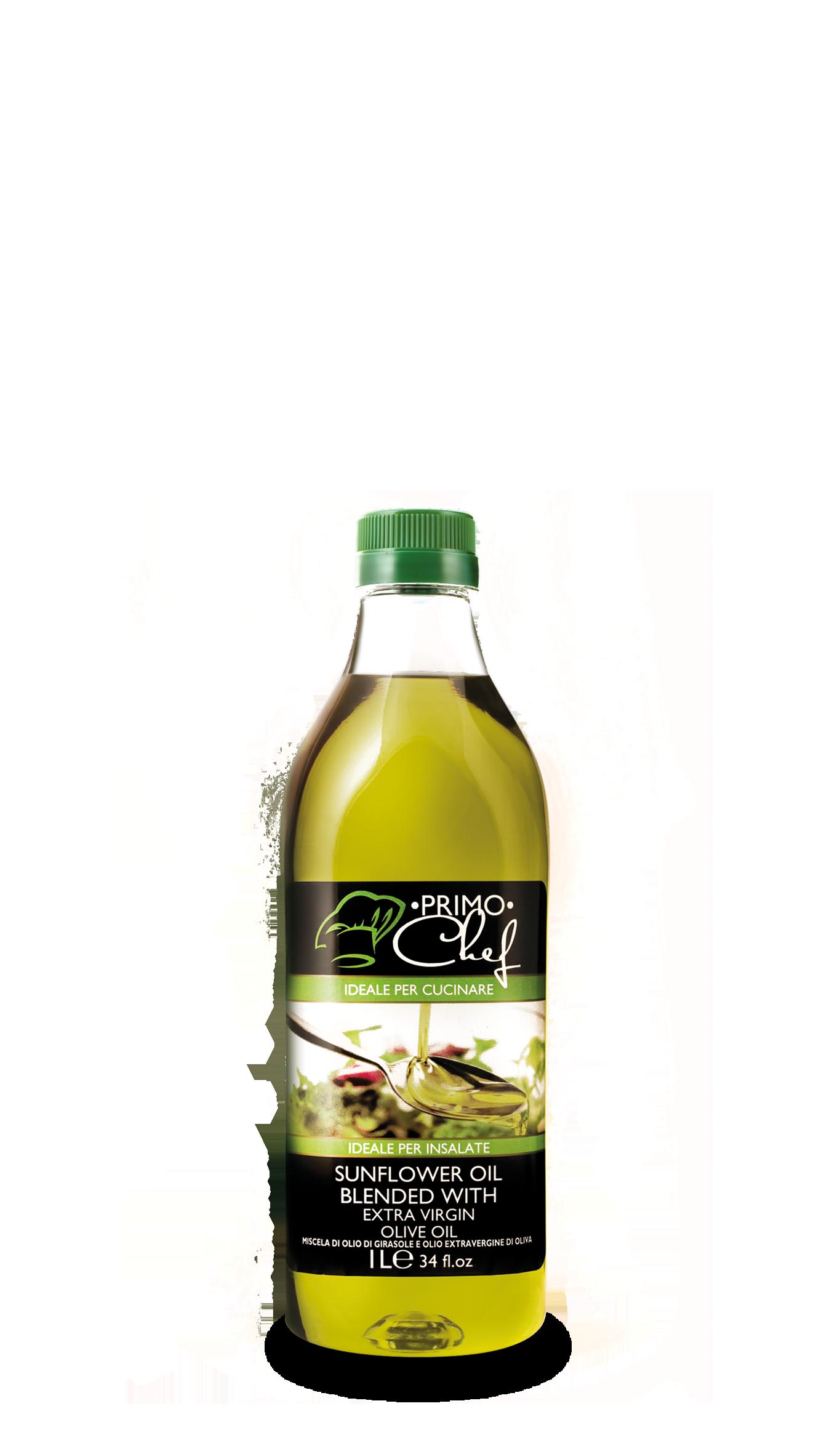 olio di girasole con olio extravergine di oliva 1L